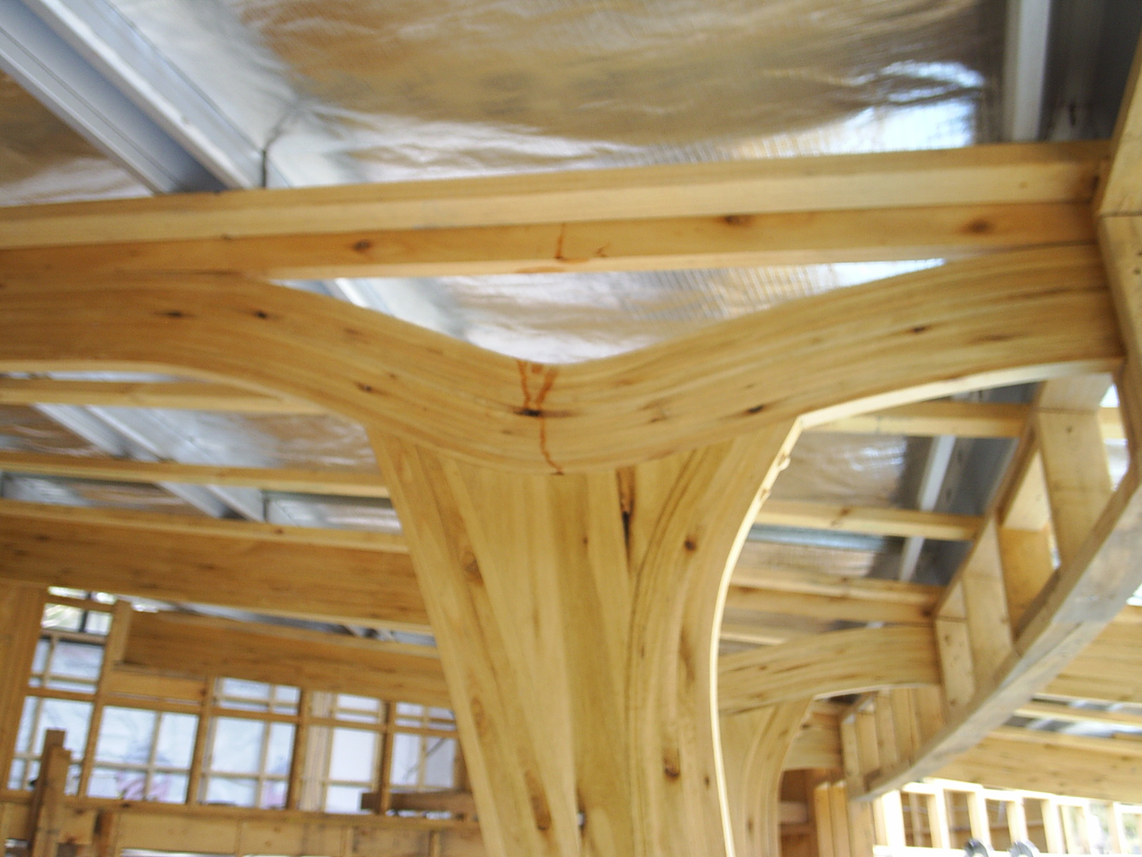 Laminated beams and wood roof decking images frompo for Laminated wood